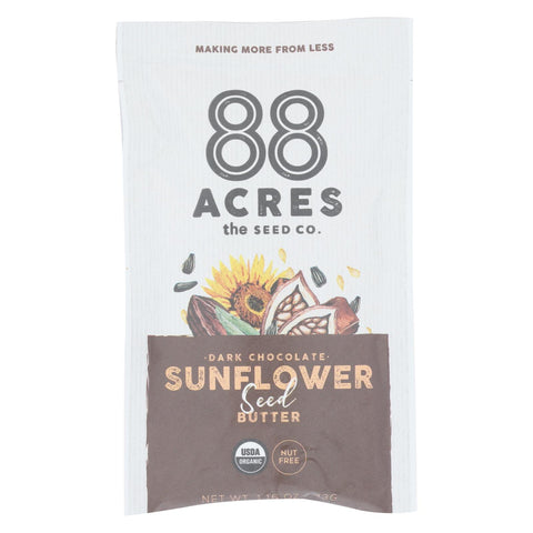 88 Acres - Seed Butter - Organic Dark Chocolate Sunflower - Case Of 10 - 1.16 Oz. - Typical corporation