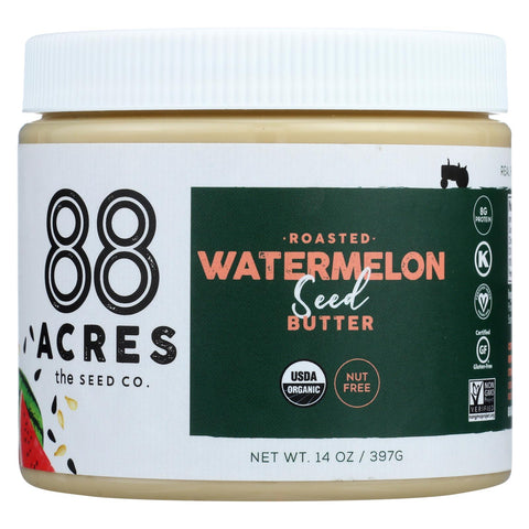 88 Acres - Seed Butter - Organic Watermelon - Case Of 6 - 14 Oz. - Typical corporation