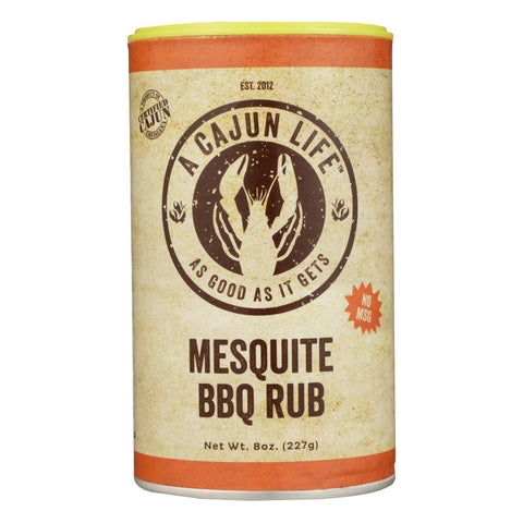 A Cajun Life Mesquite Bbq Seasoning 8 Oz - Case Of 6 - 8 Oz - Typical corporation