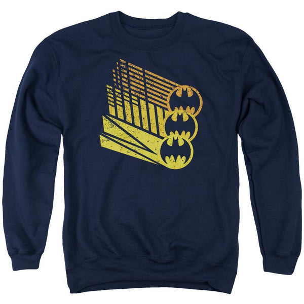 Batman/bat Signal Shapes - Adult Crewneck Sweatshirt - Navy.
