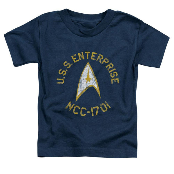 Star Trek/collegiate-s/s Toddler Tee-navy.