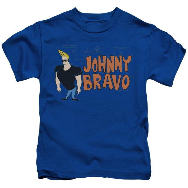 Johnny Bravo/johnny Logo - S/s Juvenile 18/1 - Royal Blue.