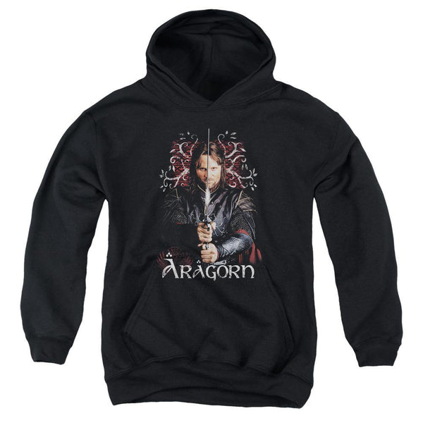 Lor/aragorn-youth Pull-over Hoodie - Black.