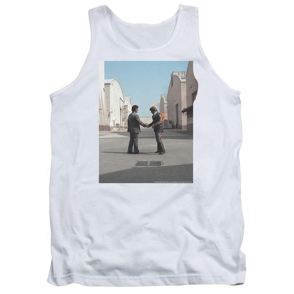 Pink Floyd/wish You Were Here-adult Tank-white.