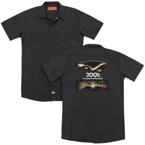 2001 A Space Odyssey/prologue Epilogue (back Print) - Adult Work Shirt - Black - Typical corporation