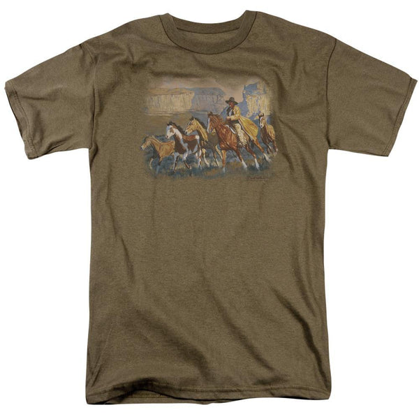 Wildlife/a Cowboy Day - S/s Adult 18/1 - Safari Green.