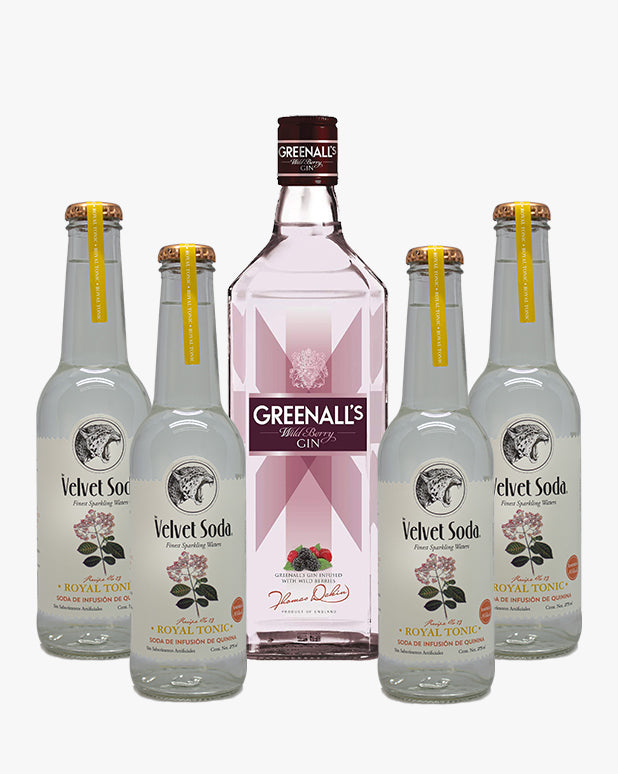 Greenall's Wildberry + 4 Velvet Soda Royal Tonic