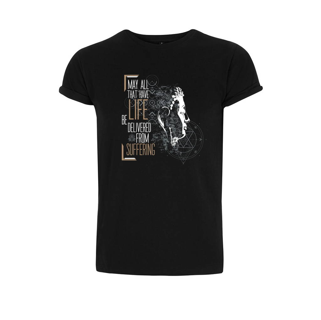 Buddha's Black Vegan T-Shirt - Unisex - The Vegan Prophets