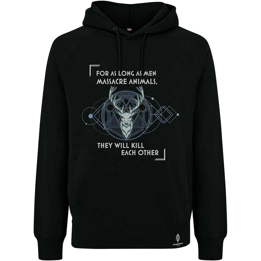 Pythagoras' Black Vegan Hoodie - Unisex - The Vegan Prophets