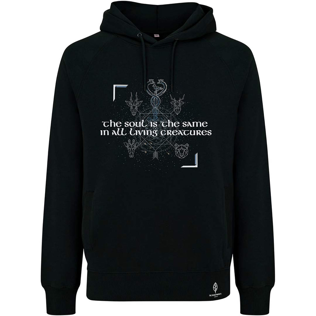 Hippocrates' Black Vegan Hoodie - Unisex - The Vegan Prophets