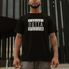 Vegan Message T-Shirt | Straight Outta Speciesism (Men) - The Vegan Prophets