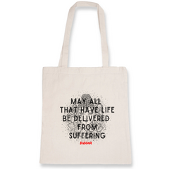 Buy online High Quality Vegan Quote Totebag - Buddha - The Vegan Prophets