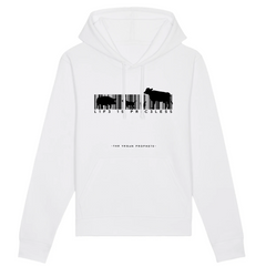 Buy online High Quality Vegan Message Hoodie | Life Is Priceless (Unisex) - The Vegan Prophets