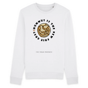 Buy online High Quality Vegan Sarcasm Sweatshirt | Hummus Is The New Foie Gras (Unisex) - The Vegan Prophets
