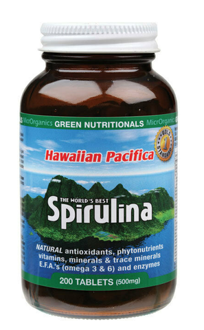 Green Nutritionals Hawaiian Pacifica Spirulina 500mg 200T