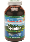 Green Nutritionals Hawaiian Pacifica Spirulina 500mg 500 Tab