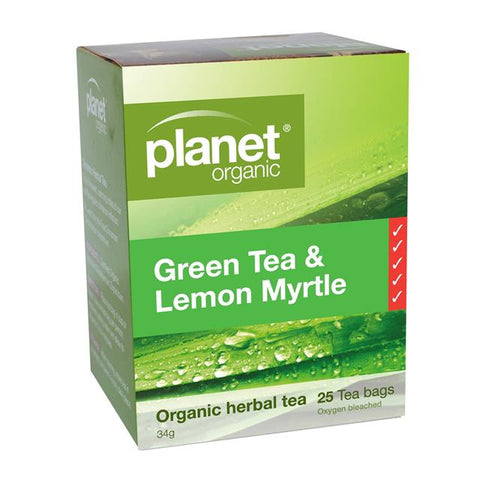 Planet Organic Green Tea & Lemon Myrtle Tea 25 Tea Bags