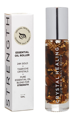 Strength Crystal Essential Oil Roller 10ml