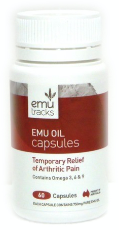 Emu Tracks Emu Oil 750mg 60C