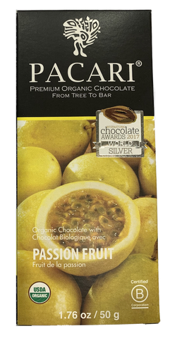 Pacari Passion fruit  Organic Chocolate Bar 50g