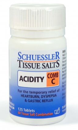 Martin & Pleasance Schuessler Tissue Salts Comb C Acidity 125T