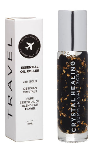 Travel Crystal Essential Oil Roller 10ml