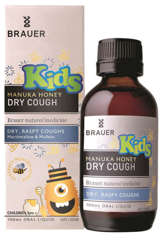 Brauer Kids Manuka Honey Dry Cough (2+ years) 100ml