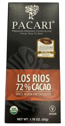 Pacari Los Rios 72% Cacao Chocolate Bar 50g