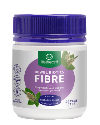Lifestream Bowel Biotics Fibre with Prebiotics & Probiotics 100VC