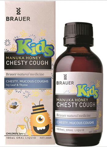 Brauer Kids Manuka Honey Chesty Cough (2+ years) 100ml