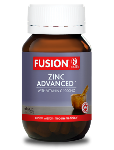 Fusion Health- Zinc Advanced With  Vitamin C Organic 60T