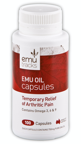 Emu Tracks Emu Oil 750mg 100C