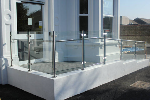 Balustrade toughened laminated glass