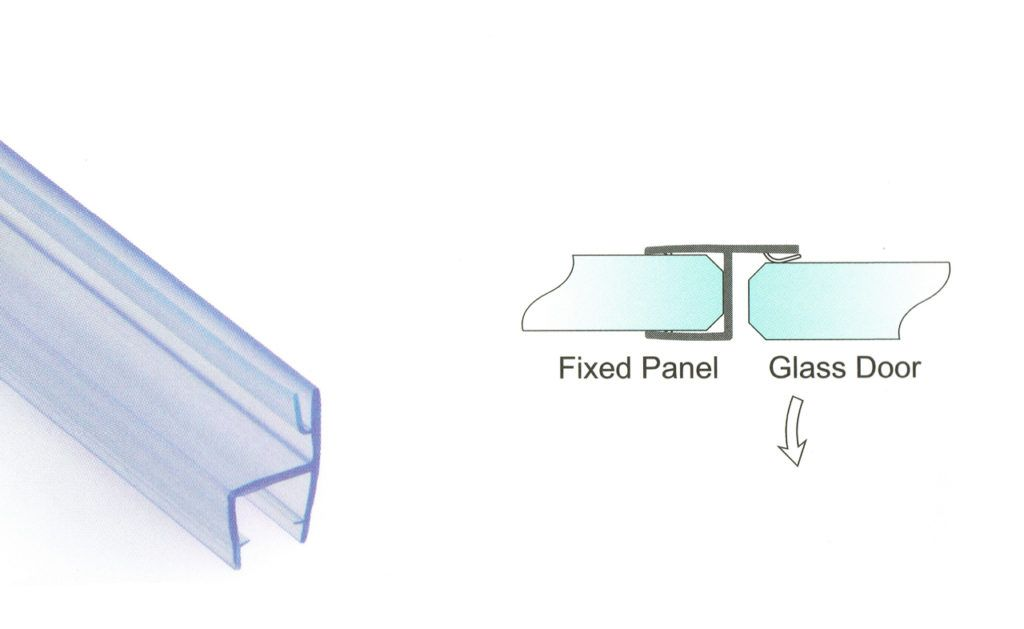 2,200mm Translucent Glass to Glass Closure Seals for 8mm Glass