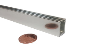 2,500mm Electro Polished Aluminium Glazing Channels