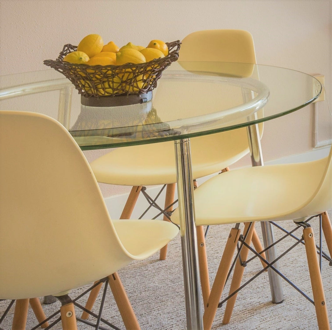 10mm Round Table Top - Clear Toughened Glass