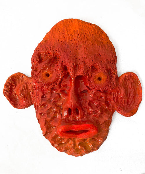 Mask (illuminous orange, big ears), 2020