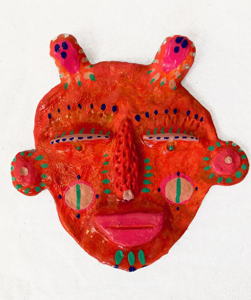 Mask (illuminous orange), 2020
