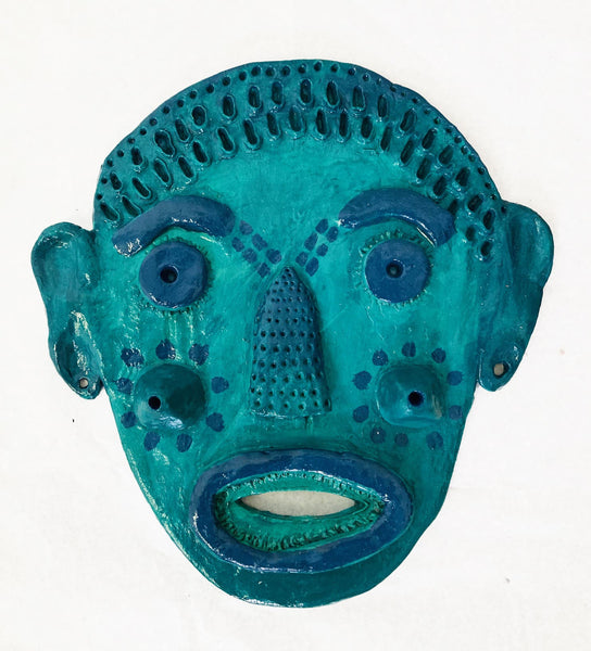 Mask (green with blue elements), 2020