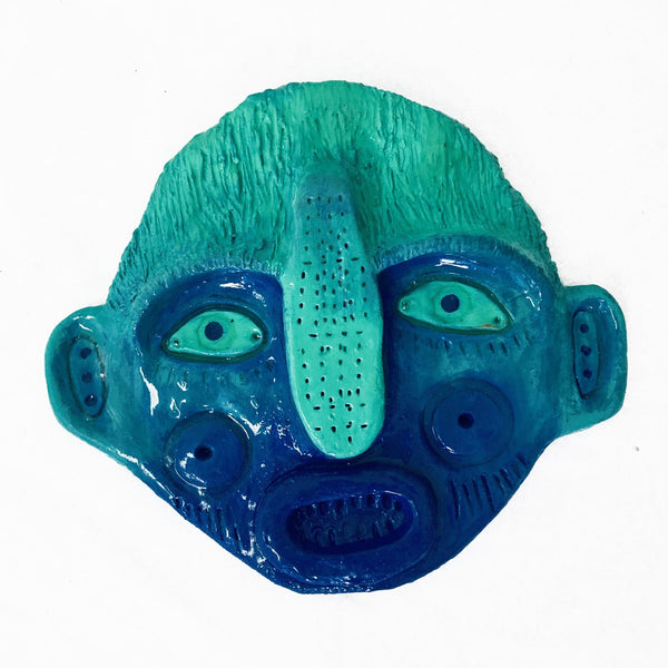 Mask (green on top, blue bottom), 2020