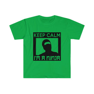 Keep Calm, I'm a Ninja Men's Fitted Short Sleeve Tee