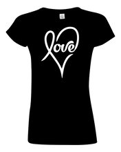 Load image into Gallery viewer, Ladies Love Heart T-shirt