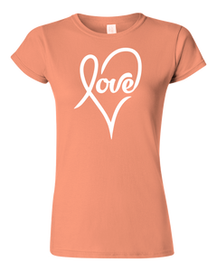 Ladies Love Heart T-shirt