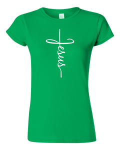 Ladies Jesus Cross T-shirt