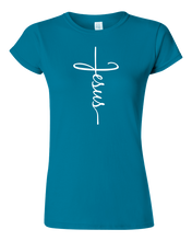Load image into Gallery viewer, Ladies Jesus Cross T-shirt