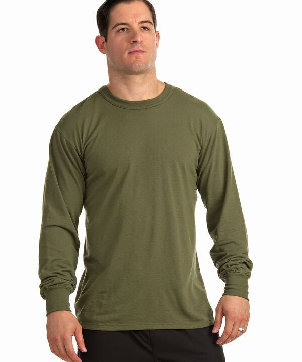 Soffe 50/50 Long Sleeve Tee-Made in USA M290