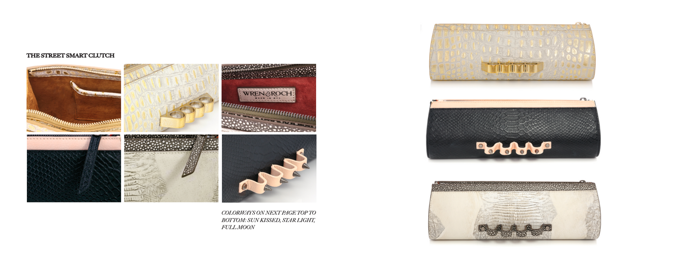 Wren & Roch Spring/Summer '20 Look Book - Street Smart clutch details