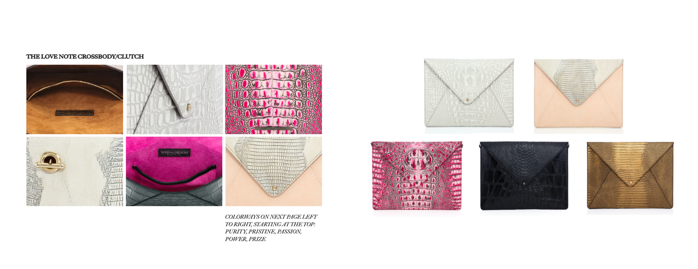 Wren & Roch Spring/Summer '20 Look Book - Love Note clutch details