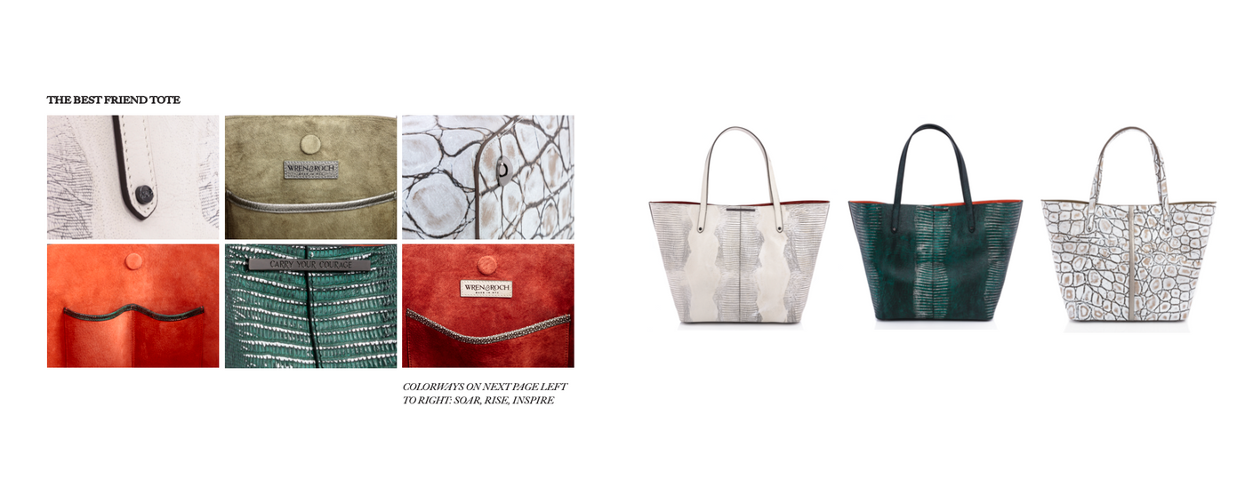 Wren & Roch Spring/Summer '20 Look Book - Best Friend tote details