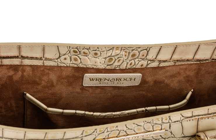 Wren & Roch Amazing Grace Handbag - Valor interior pocket with W&R logo